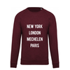"2800 by Mini Monsters 2800 by Mini Monsters - ""New York, London, Mechelen, Paris"" Sweater Bordeaux"