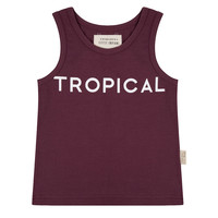 thumb-Little indians - Tanktop Tropical Aubergine-1