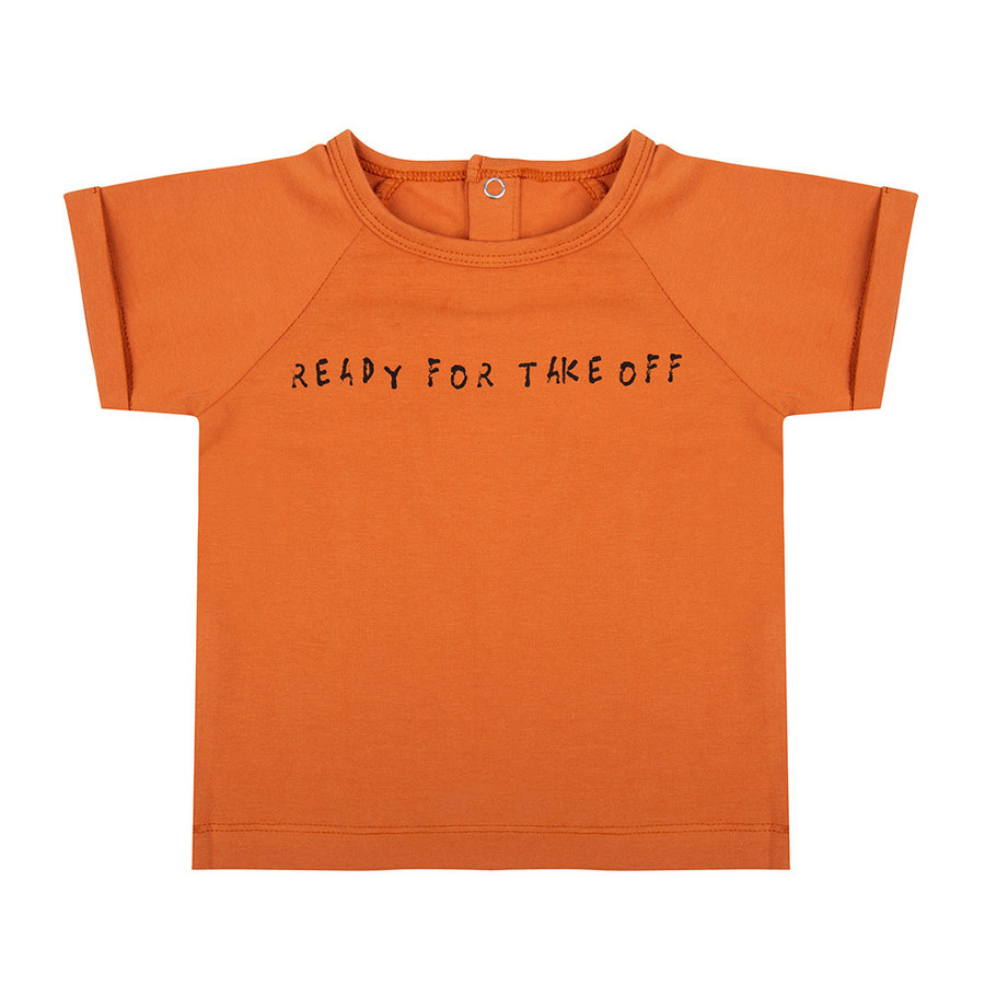 Little indians - T-shirt Ready for take off Bombay Brown-1