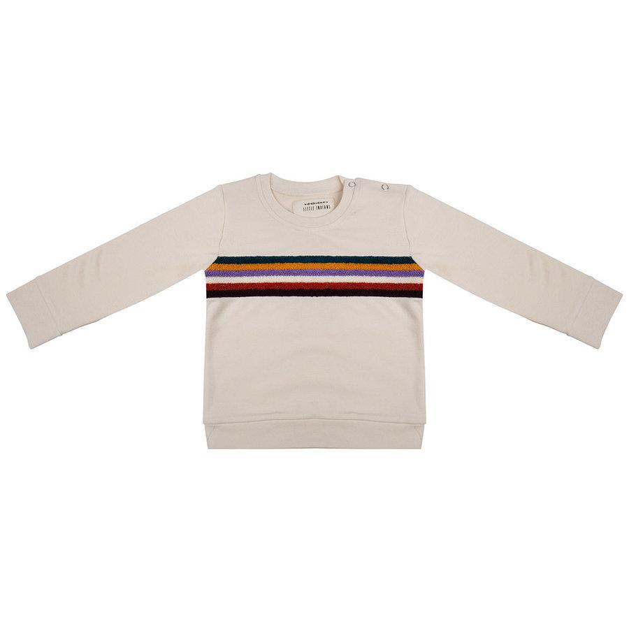 Little indians - Sweater Colourful sunset ecru-1