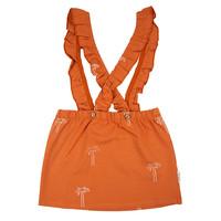 thumb-Little indians - Salopette dress Palmtrees bombay brown-2