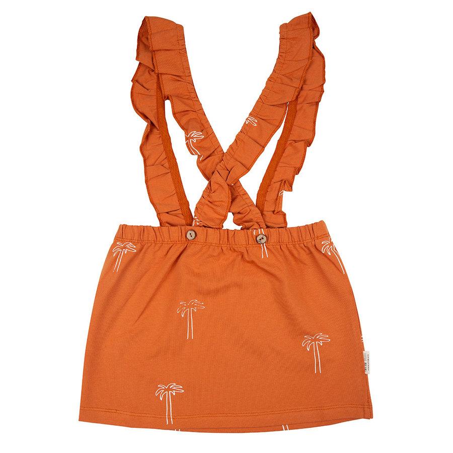 Little indians - Salopette dress Palmtrees bombay brown-2