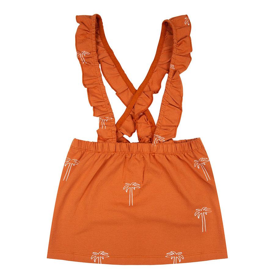 Little indians - Salopette dress Palmtrees bombay brown-1