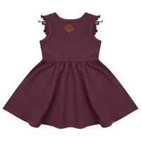 thumb-Little indians - Boho dress Sleeveless Aubergine-2
