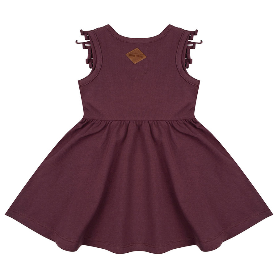 Little indians - Boho dress Sleeveless Aubergine-2