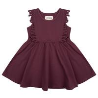 thumb-Little indians - Boho dress Sleeveless Aubergine-1