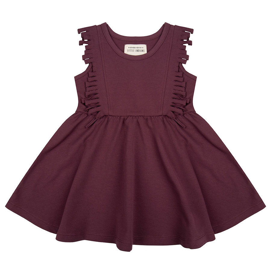 Little indians - Boho dress Sleeveless Aubergine-1