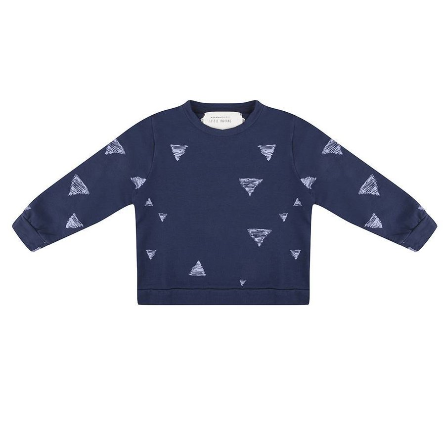Little Indians Triangle Sweater Blauw-2