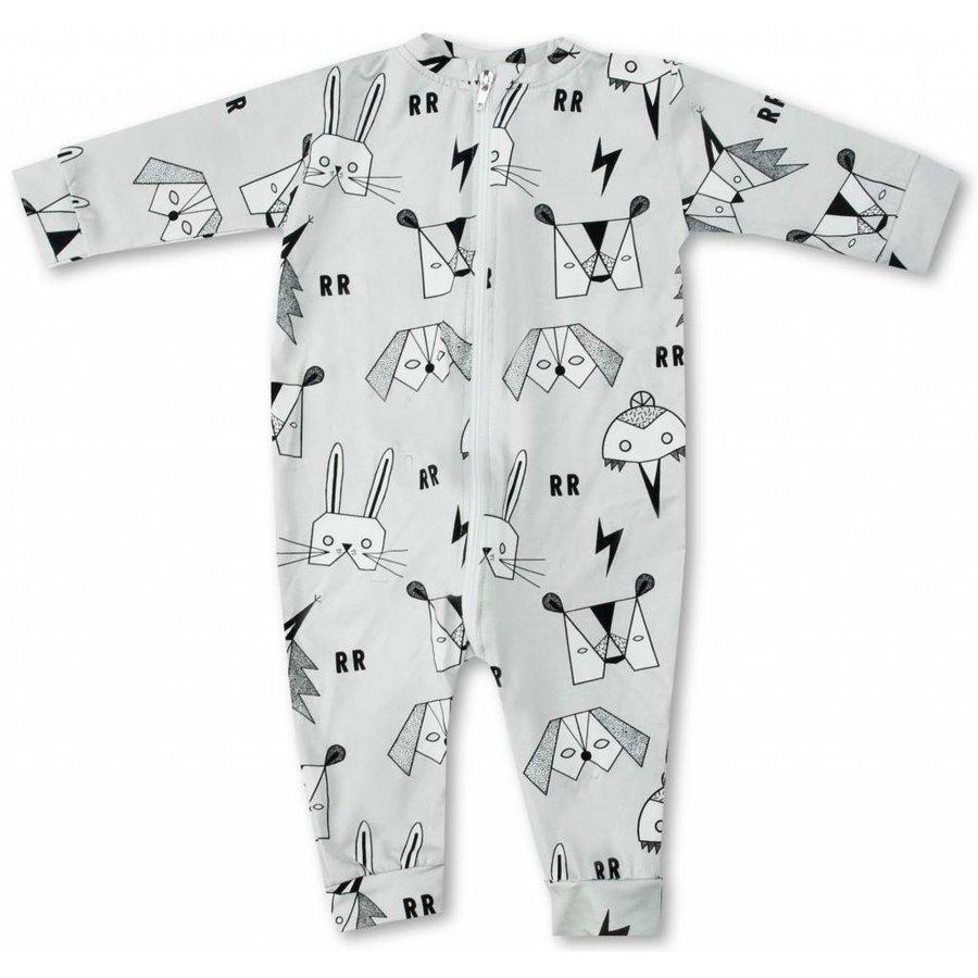 Raspberry Republic Pyjamasuit Masquerade grijs-1