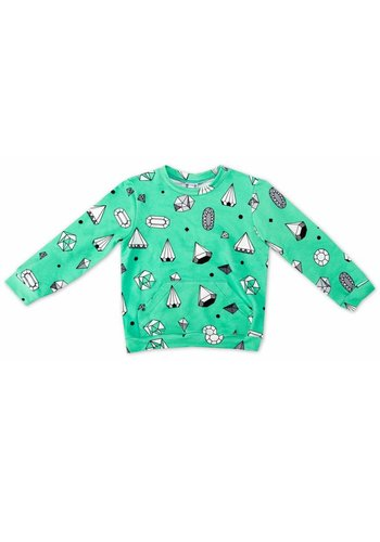 Sweater Diamonds mintgroen