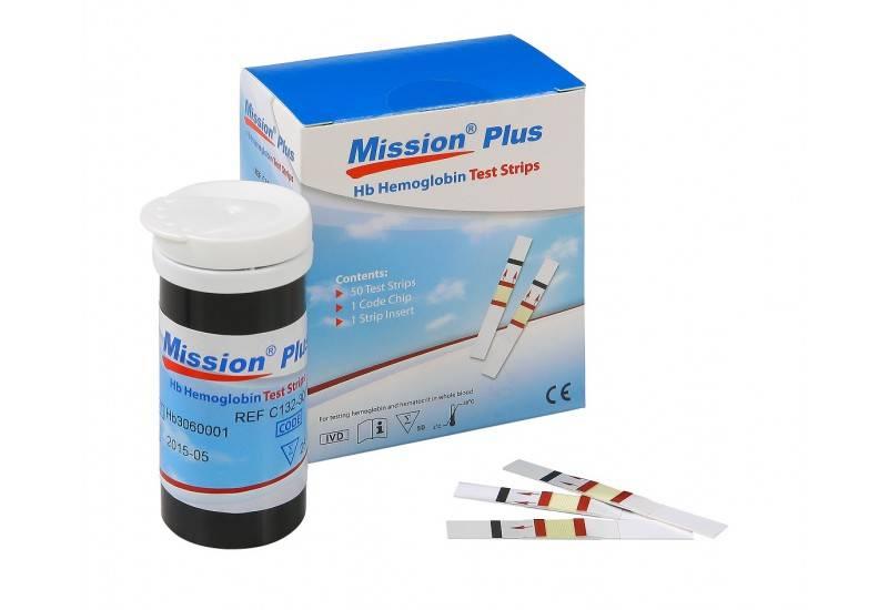 Mission® HB Plus hemoglobine Teststrips 2 x 25 strips