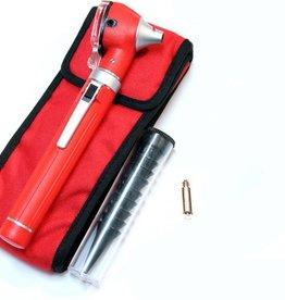Medische Vakhandel Mini Otoscoop Fiber Optic Rood