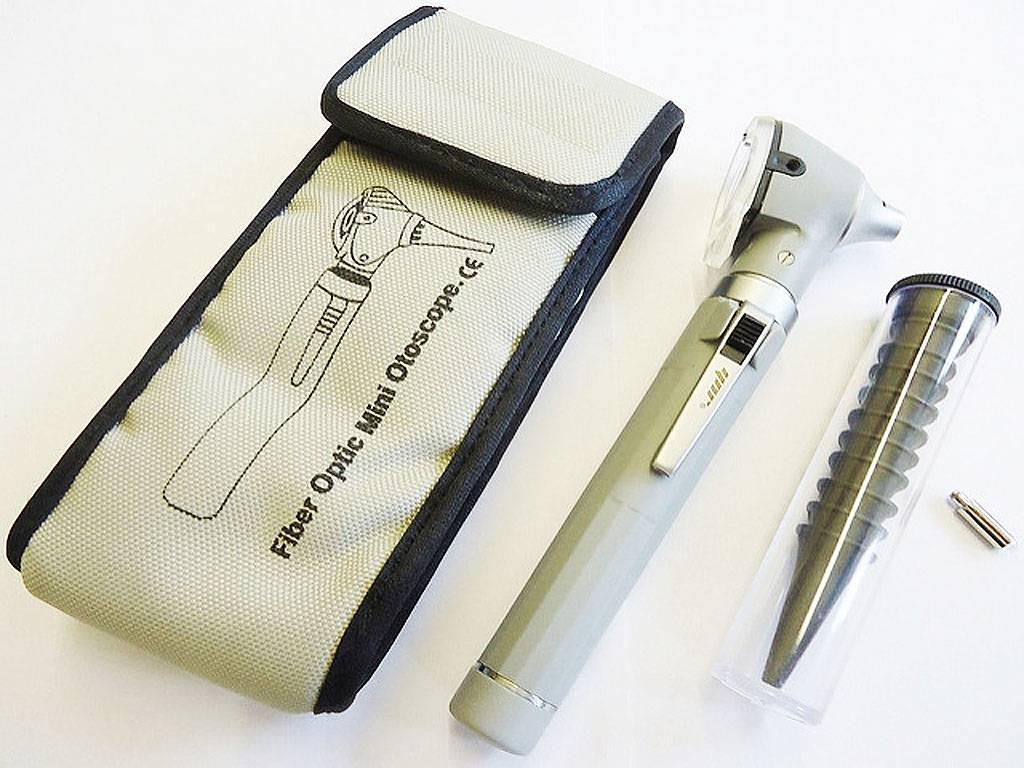 Mini otoscope - Fiber Optic - Grey