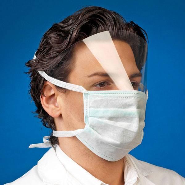 Mediware surgical face masks with visor