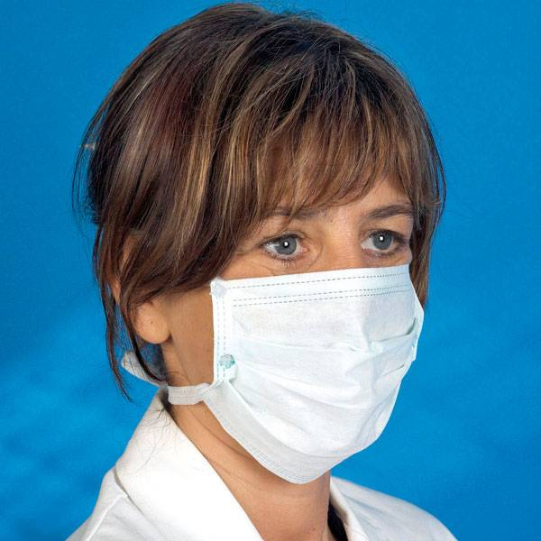 Mediware Einmal OP-Mundschutz, zum Binden