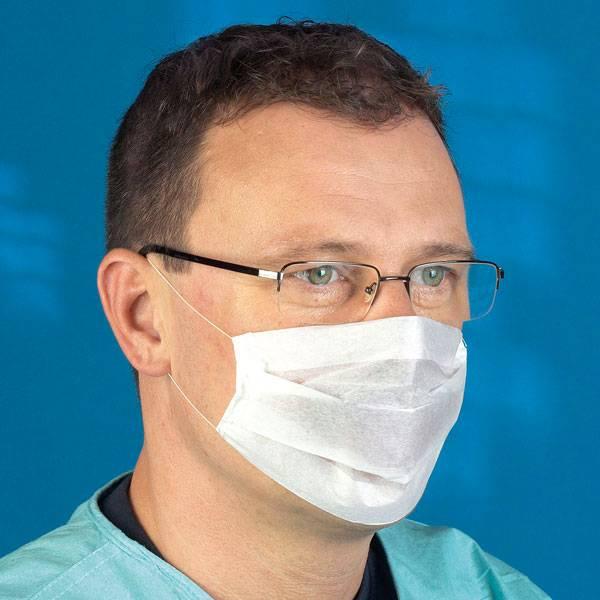 Mediware Einmal Mundschutz mit Ohrschlaufen, 2-lagig
