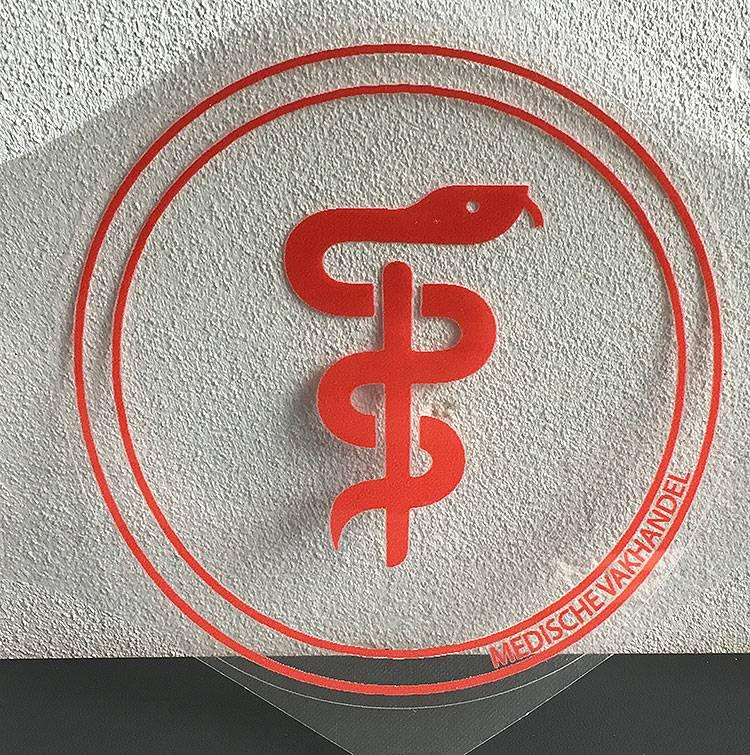 Aesculaap sticker voor artsen