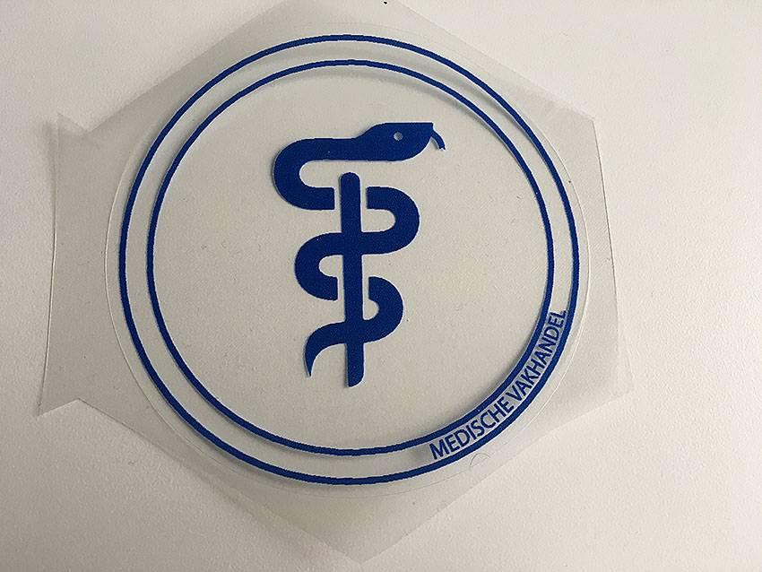 Aesculaap sticker voor verloskundigen