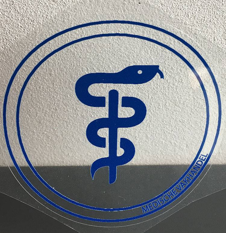 Aesculapius sticker - obstetrician