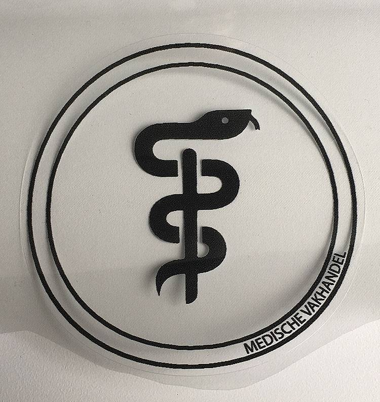 Aesculapius sticker - dentist