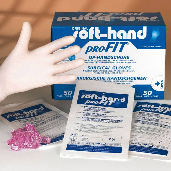 Soft-Hand latex powdered - sterile - 50 pieces
