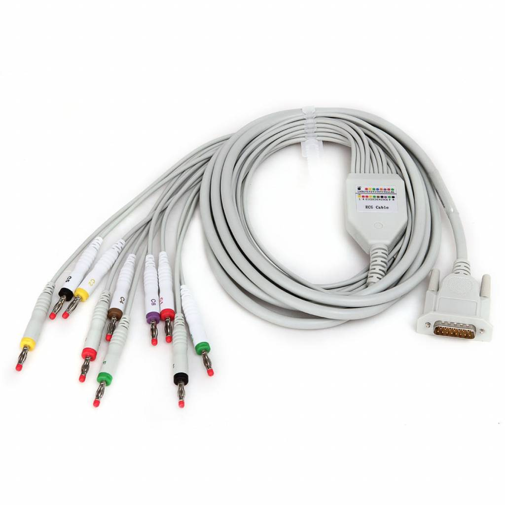 EKG-Kabel mit 12 Ableitungen für Contec ECG 100G / ECG300G / 600G / 1200G