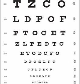 Medische Vakhandel Snellen Sehtafel mit Buchstaben, 3 Meter
