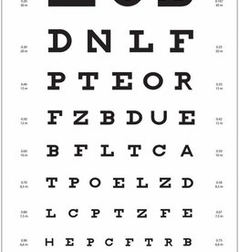 Medische Vakhandel Snellen optometric chart - distance: 5-6 mtr
