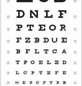 Medische Vakhandel Snellen Sehtafel mit Buchstaben 5-6 Meter