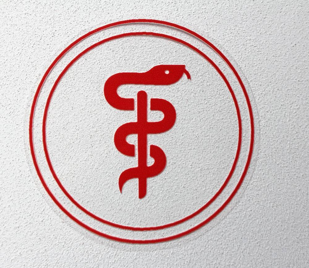 Aesculapius sticker - doctor