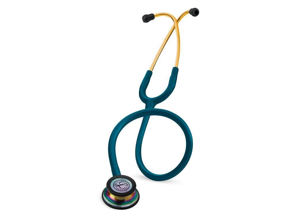 """LITTMANN® """"CLASSIC III"""" Stethoscoop - 5807 - Regenboogeditie Caribisch Blauw"""