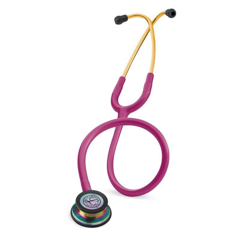 """LITTMANN® """"CLASSIC III"""" Stethoscoop - 5806 - Regenboogeditie, framboos"""