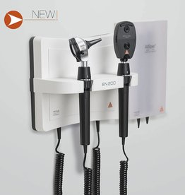 Heine Heine wall unit and 200 beta 400 LED otoscope beta200 led ophthalmoscope a-095.12.208