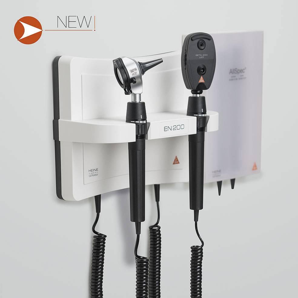 HEINE wandunit en 200 beta 400 led otoscoop beta200 led ophthalmoscoop A-095.12.208