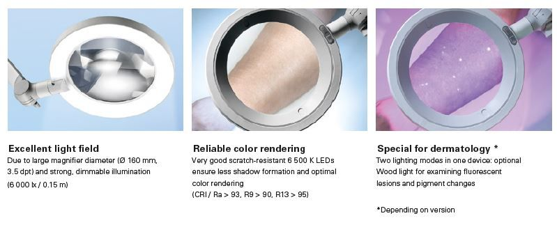 Lupenleuchte OPTICLUX Option Woodlamp