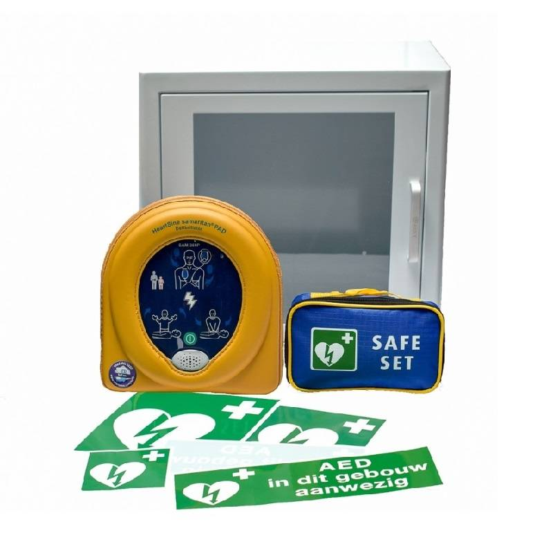 Heartsine Samaritan 500P AED Package with cabinet - Exchange discount € 150,-