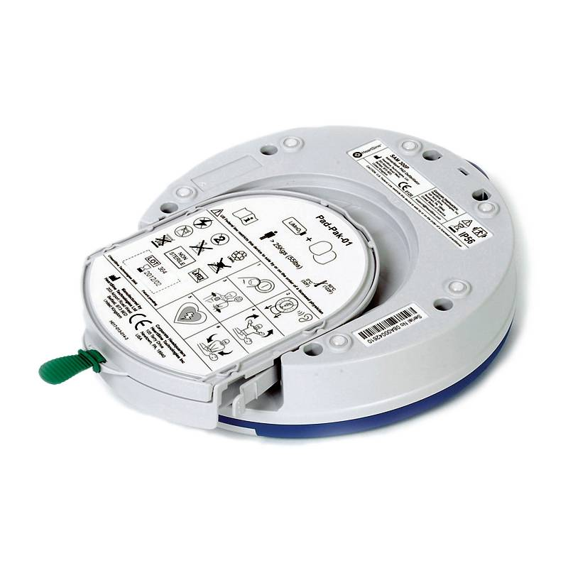 AED-Elektroden und Batterien in einer Einweg-Kassette: Pad-Pak