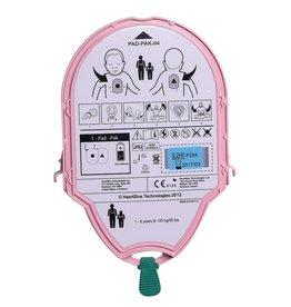 HeartSine AED-Elektroden und Batterien in einer Einweg-Kassette: Kinder Pad-Pak