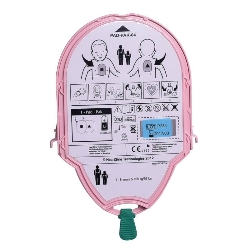 AED-Elektroden und Batterien in einer Einweg-Kassette: Kinder Pad-Pak