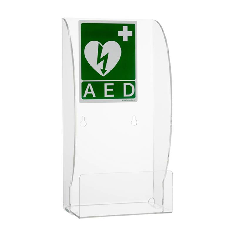 Plexiglas wall bracket for AED