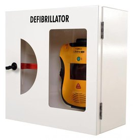 Defibtech AED Wall cabinet white - break glass alarm