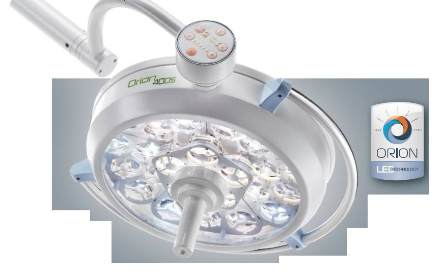 Orion 40DS Surgical lamp on Trolley