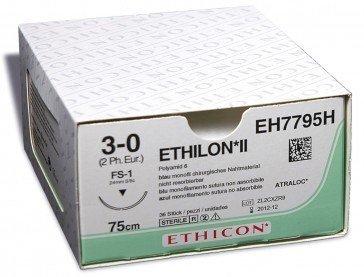 Ethilon II usp 9-0 15cm BV100-4 zwart EH7448G 12x1