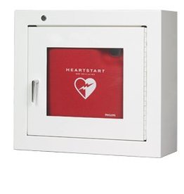 Medische Vakhandel Philips AED cabinet with alarm - steel - white