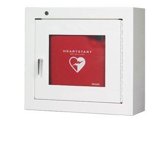 Philips stalen AED kast wit met alarm