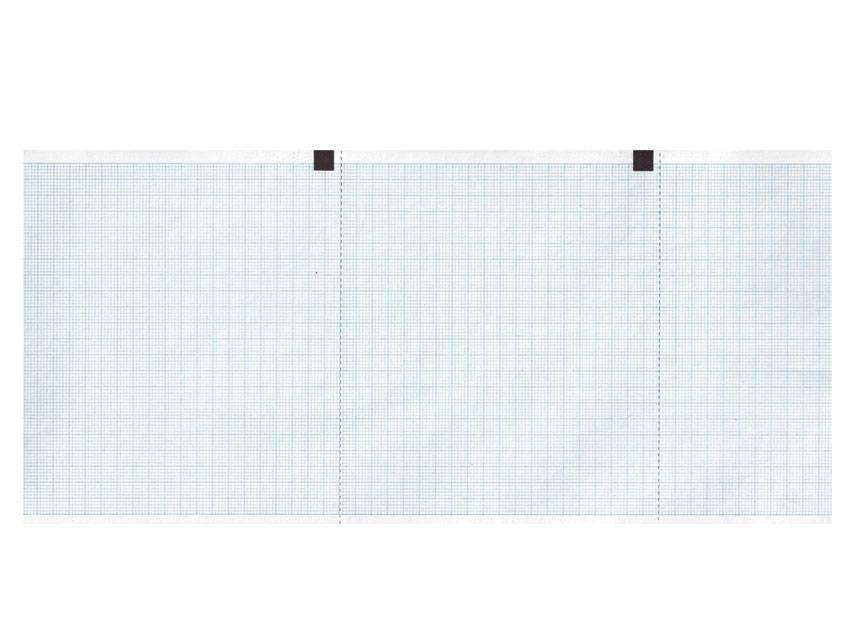 EKG-Papier bleu grid - 120 mm x 18 m - 130 mm x 27 m - 210 mm x 20 m - 50 mm x 30 m - 60 mm x 15 m