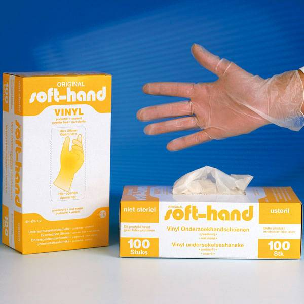 Soft-hand Vinyl S Examination gloves