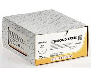 Ethibond Excel, USP 6/0, 75 cm, BTP-1, grün, 12 Stück