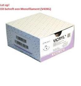 Ethicon Ethicon Vicryl mono, USP 9/0, 30 cm, GS-9, violett, V439G, 12 Stück