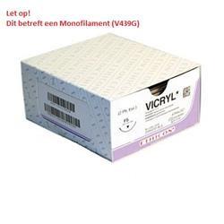 Ethicon Vicryl mono, USP 9/0, 30 cm, GS-9, violett, V439G